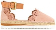 See By Chloé - Glyn espadrille sandals - women - Raffia/Leather/Suede/rubber - 35, 36, 37, 38, 39, 41, 40 - PINK & PURPLE