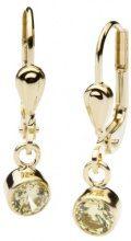 InCollections - Orecchini pendenti per bambini con zirconia cubica, oro giallo 8k (333), cod. 0020160110401