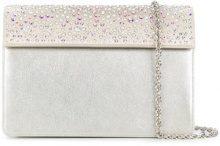 Rodo - crystal embellished clutch - women - Leather/Satin - OS - METALLIC
