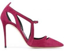 Casadei - pointed toe pumps - women - Leather/Suede - 37, 37.5, 38, 39 - Rosa & viola