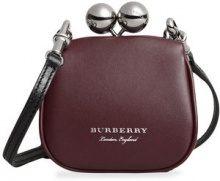 Burberry - Clutch - women - Calf Leather/Cotton - OS - PINK & PURPLE