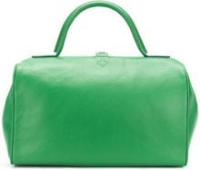 A.F.Vandevorst - logo embossed tote - women - Calf Leather - OS - GREEN