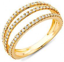 Miore - M0343AYP, Anello in oro giallo (18 carati) con diamante donna, bianco, 16