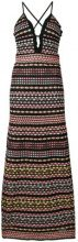 M Missoni - ruffle trim knit maxi dress - women - Polyamide/Cotton/Metallic Fibre/Polyester - 40, 42, 44, 38 - MULTICOLOUR