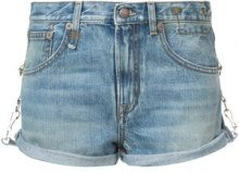 R13 - cut off denim shorts - women - Cotton/Calf Leather - 24, 25, 27, 28, 26, 29 - BLUE
