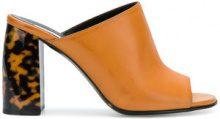 Stella McCartney - block heel mules - women - Leather - 36, 36.5, 37.5, 38, 40 - BROWN