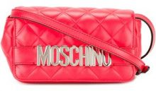 Moschino - logo plaque shoulder bag - women - Polyester - OS - RED