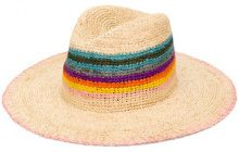 Paul Smith - Cappello 'Rainbow' - women - Straw - L - BROWN