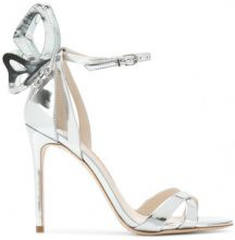Sophia Webster - butterfly detail sandals - women - Calf Leather/Leather - 39, 40, 36, 37, 37.5, 38, 38.5 - METALLIC