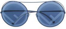 Fendi Eyewear - Occhiali da sole 'Run Away' - women - metal - 63 - BLUE