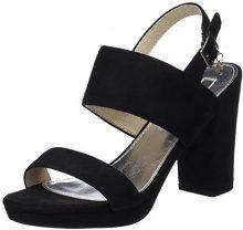 XTI 30753, Scarpe con Cinturino Alla Caviglia Donna, Nero (Black), 36 EU