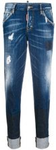 - Dsquared2 - hockney jeans - women - fibra sintetica/cotone - 40 - di colore blu