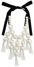 Moy Paris - Collana con perle oversize - women - Cotton/plastic - OS - WHITE