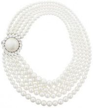 Miu Miu - Collana con fili di perle - women - Pearls/glass/Brass - OS - WHITE