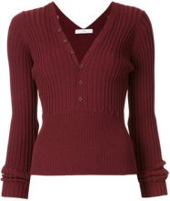 Astraet - rib knit top - women - Lyocell - OS - RED