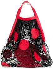Maison Margiela - Borsa a rete con pois - women - Leather/Polyamide - One Size - RED