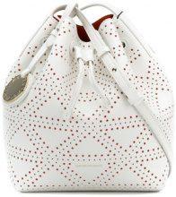 Emporio Armani - embossed satchel bag - women - Polyurethane - OS - WHITE