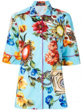 Dolce & Gabbana - floral print shirt - women - Cotone/Silk - 44 - BLUE