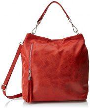 Chicca Borse 80054, Borsa a Mano Donna, Rosso, 34x29x14 cm (W x H x L)