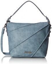Tamaris Jutta Hobo Bag S - Borse a tracolla Donna, Blau (Light Blue), 12x32x27 cm (B x H T)
