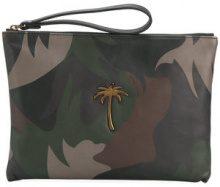 Tomas Maier - camo palm pouch - women - Calf Leather - OS - GREEN