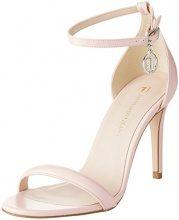 Trussardi Jeans Evening Minimal, Scarpe col Tacco con Cinturino alla Caviglia Donna, Rosa (Light Pink), 38 EU