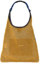 Marni - perforated shoulder bag - women - Calf Hair - One Size - BLUE