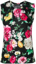 Dolce & Gabbana - Blusa con stampa a fiori - women - Silk - 40, 42, 44, 38 - BLACK