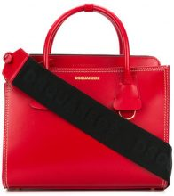 Dsquared2 - square design tote bag - women - Leather - One Size - RED