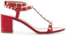 Valentino - Valentino Garavani Free Rockstud sandals - women - Leather/Patent Leather - 35, 36.5, 38.5, 40 - RED