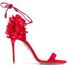 Aquazzura - Lily of the Valley sandals - women - Goat Skin/Calf Leather/Leather - 35, 36, 37, 37.5, 38, 38.5, 39, 40, 36.5, 40.5, 41, 35.5 - RED
