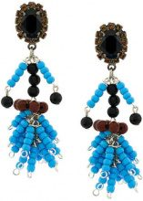 Marni - Orecchini con perline - women - Rhinestone/Resin - One Size - Blu