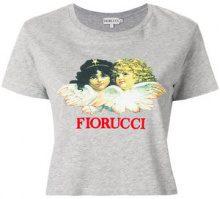 Fiorucci - T-shirt crop con logo - women - Cotone - S, M, XS - GREY
