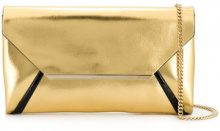 Lanvin - evening laminated clutch - women - Calf Leather/Goat Skin/Nylon/Viscose - One Size - METALLIC