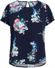 ONLY Printed Short Sleeved Top Women Blue