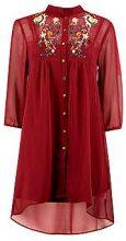 Rhiannon abito a camicia ricamato