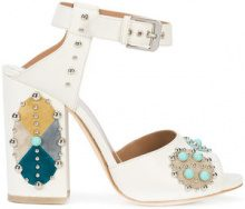 Laurence Dacade - Rosemary sandals - women - Calf Leather/Turquoise - 37, 37.5, 38, 39, 40, 41, 38.5, 39.5 - WHITE