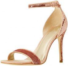 Guess Footwear Dress Sandal, Scarpe con Cinturino Alla Caviglia Donna, Rosa, 38 EU