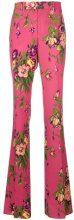 Gucci - Pantaloni con stampa floreale - women - Silk/Polyester/Spandex/Elastane/Wool - 40, 44 - PINK & PURPLE
