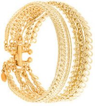Wouters & Hendrix - My Favourite multi chain bracelet - women - Gold Plated Sterling Silver - S - YELLOW & ORANGE