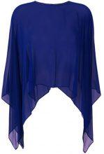 Max Mara - Blusa trasparente - women - Silk - One Size - BLUE