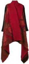 By Walid - Scialle a incrocio con patchwork - women - Silk/Cotton - S, M, L - RED