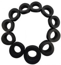 Monies - oversized ring necklace - women - Wood - OS - BLACK
