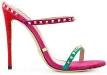 Gianni Renzi - Sandali color-block - women - Suede/Leather - 36, 38, 38.5, 39, 39.5, 40, 41 - PINK & PURPLE