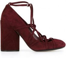 Marc Jacobs - Pumps 'Carrie' stile scozzese - women - Leather/Suede - 36, 37, 37.5, 38.5 - RED