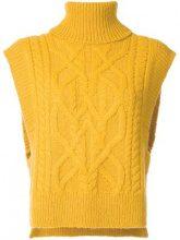 Isabel Marant - 'Grant' sleeveless jumper - women - Alpaca/Merino/Polyamide - 36, 38, 40 - YELLOW & ORANGE