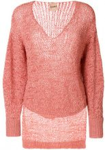 Nude - Maglione con scollo a V - women - Cotton/Polyamide/Polyester - 40, 42, 44 - YELLOW & ORANGE