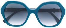 Fendi Eyewear - Occhiali da sole oversize - women - Acetate - 56 - BLUE