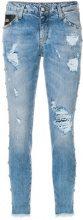 John Richmond - distressed skinny jeans - women - Cotton/Spandex/Elastane - 27, 28, 30, 31 - BLUE