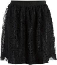 PIECES Lace Skater Skirt Women Black